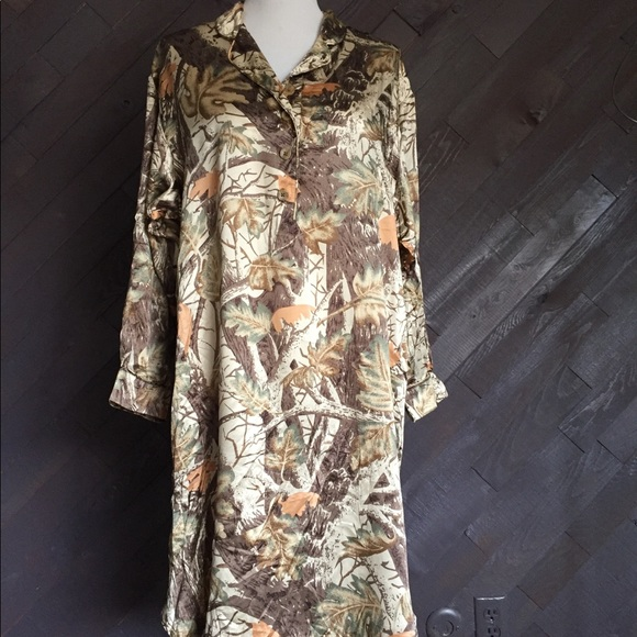Cabela s Camo Silk Night Gown 💚💚💚 0285917ba